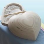 hartvormig kistje voor baby
