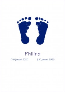 vb rouwkaart overleden kind