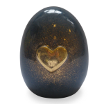 Kneedbare steen - babyurn met gouden hart
